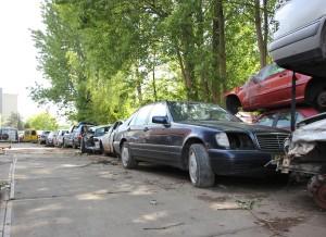 Inkopen van sloopauto's of schade auto's.