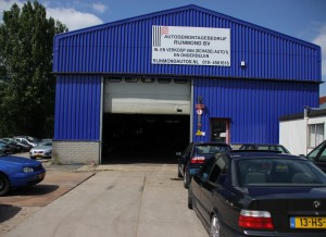 Auto demontage bedrijf in Rotterdam